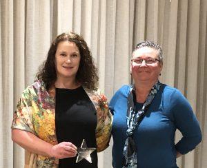 Cheri Vandenberg and Maureen Long at CASDA awards