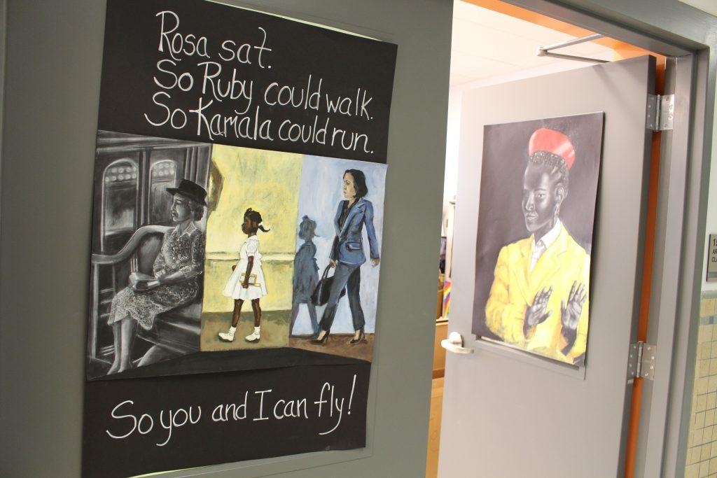 Artwork celebrating Black History Month