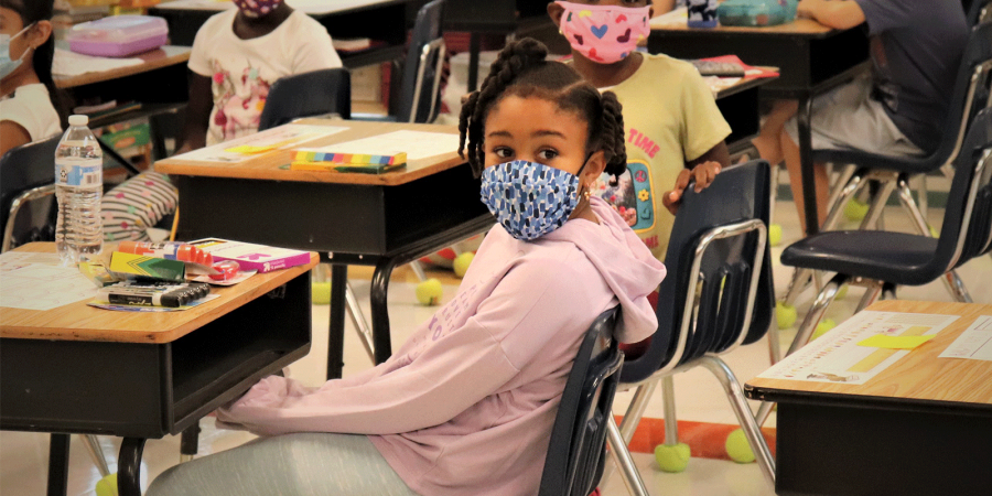 Menands student in classroom